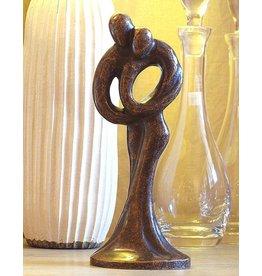 Beeld brons klein abstract liefdespaar