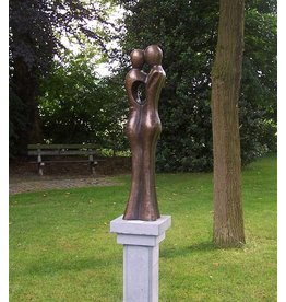 Beeld brons groot abstract liefdespaar