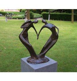 Eliassen Großes abstraktes Tanzpaar des Bildes Bronze