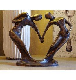 Beeld brons klein abstract danspaar