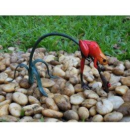 Bronze-Statue rot Frosch auf Zweig