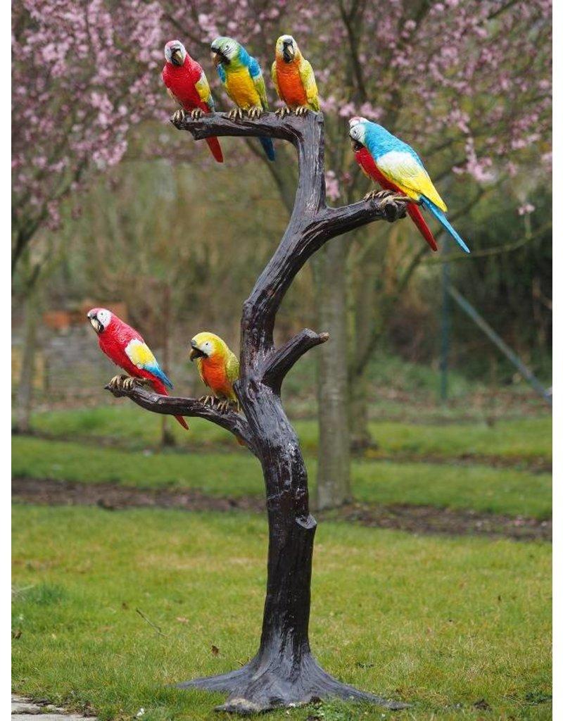 Baum mit Papageien Bronze