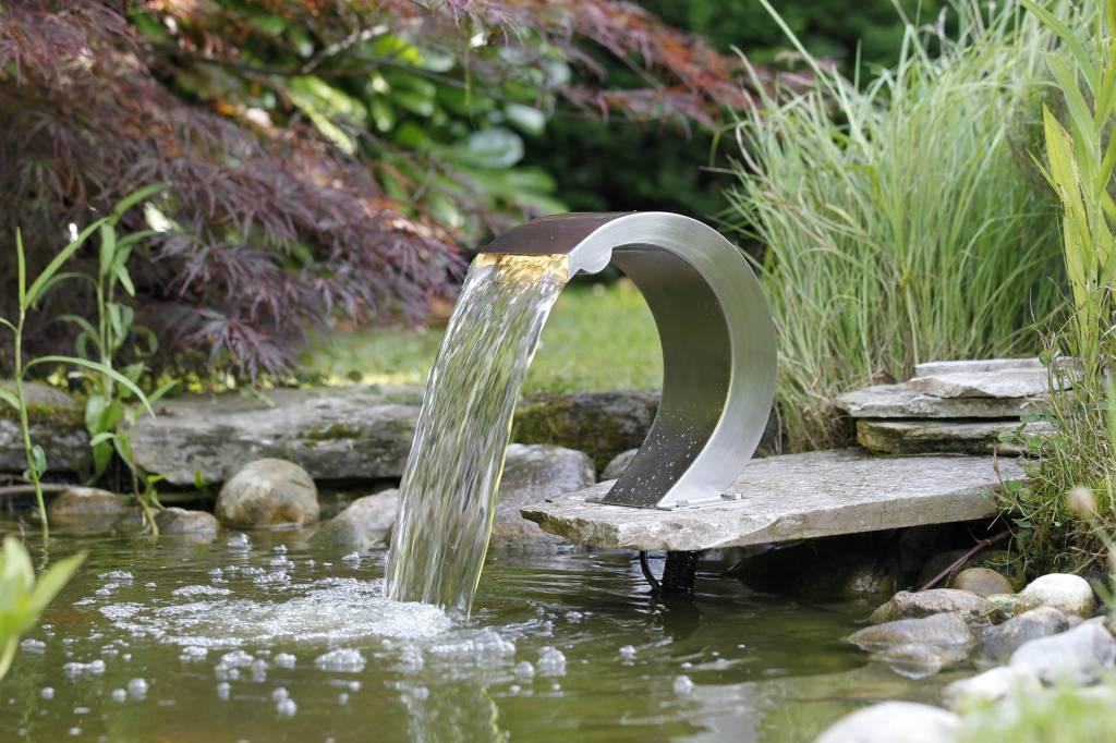Waterval rvs ubbink mamba s led eliassen home garden for Ubbink wasserfall einbauanleitung