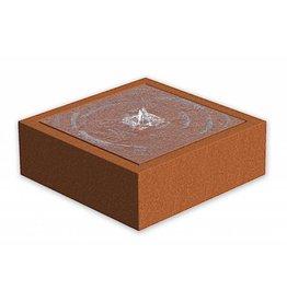 Adezz Wassertisch Adezz quadratischer Cortenstahl in 3 Größen