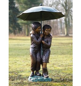 Eliassen Beeld brons kinderen onder paraplu groot