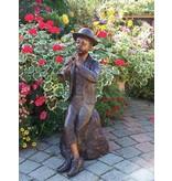 Boy mit Flöte Brunnen Spray Bronzefigur