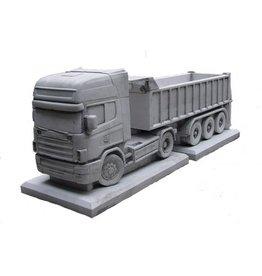 Bloembak beton Scania met trailer