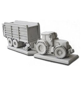 Eliassen Tuinbeeld Fendt traktor met opraapwagen