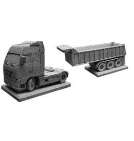 Bloembak betonnen Volvo met trailer