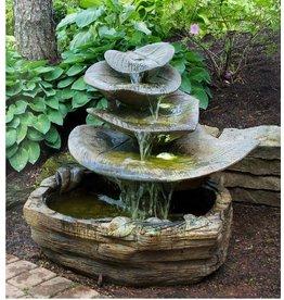 Riesiger Blatt Brunnen