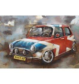 Eliassen 3D schilderij metaal 120x80cm Mini Cooper
