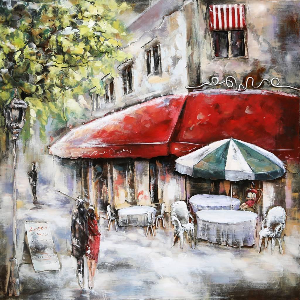 3 d Malerei paris cafe 2
