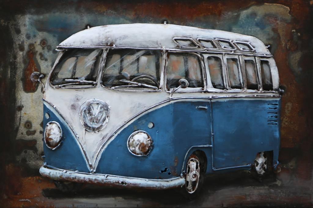 Eliassen 3D Lackierung Metall 60x40cm VW Bus blau