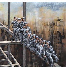 3D schilderij Workers High