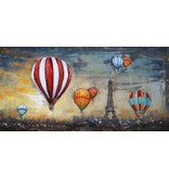 3 D Malerei balloons über Paris