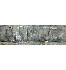 3D schilderij metaal 50x150cm New York