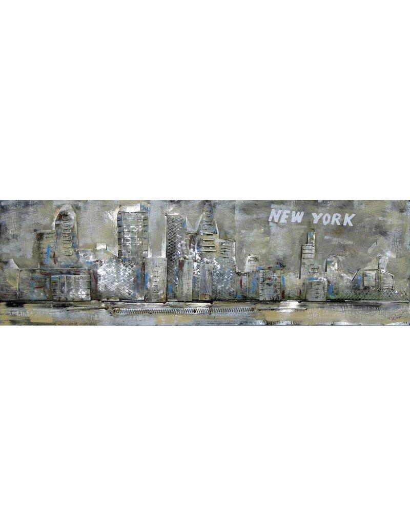 3D-Metall-Malerei in New York 50x150cm
