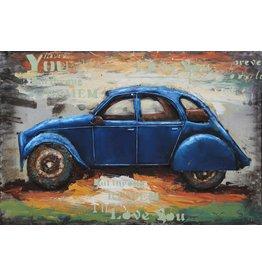 Eliassen Metalen 3D schilderij 120x80cm Lelijke Eend 2cv