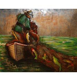 Eliassen 3D schilderij metaal 120x100cm Visser