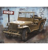 3D-Metall-Malerei 80x60cm Jeep