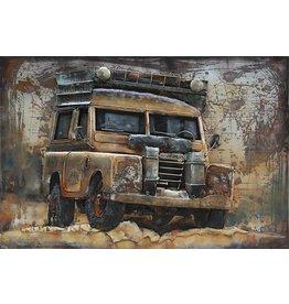 metalen schilderij 3d 120x80cm Off Road