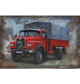 3D-Metall-Malerei 120x80 MAN Diesel