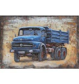 Eliassen Metalen 3d schilderij 120x80cm Mercedes vrachtauto