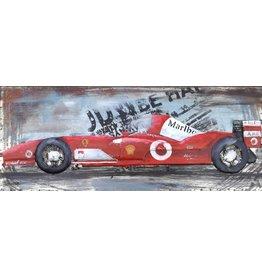 Eliassen Metalen schilderij 3d 40x100cm Formula 1