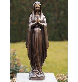 Mariabeeld 48cm brons