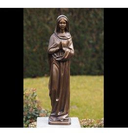 Mariabeeld 62cm brons