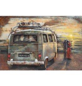 3d schilderij metaal VW bus 1 80x120cm