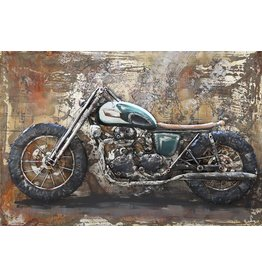 Schilderij metaal 3d Cafe Racer1 80x120cm