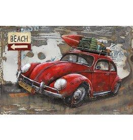 Schilderij metaal 3d Holiday 80x120cm