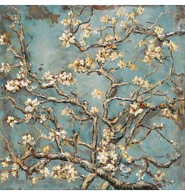 Malerei Metall 3d Frühjahr 100x100cm