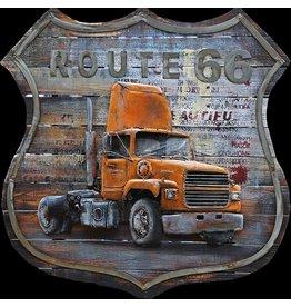 3D schilderij 100x100cm Truck USA