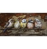 3D-Malerei Metall 55x95cm Sparrows