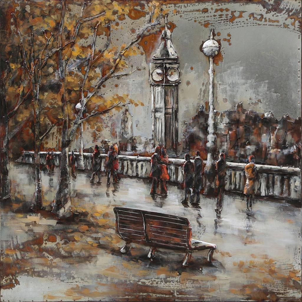 Eliassen 3-D schilderij Stadsbrug 100x100cm
