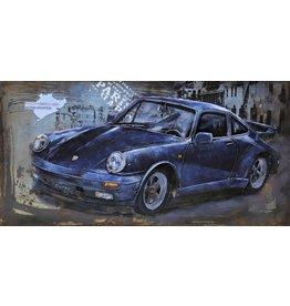 Eliassen 3D Schilderij metaal Porsche 60x120cm