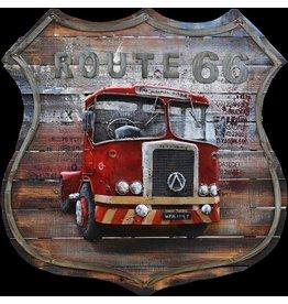 ganzen3d schilderij 100x100cm American truck