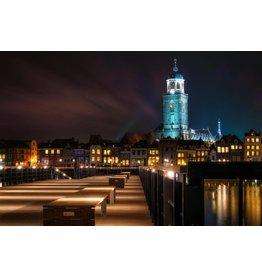 Foto-Malerei auf Leinwand 114x80cm Amsterdam bei Nacht