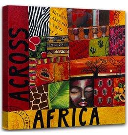 Foto-Malerei auf Leinwand 100x100cm Afrika