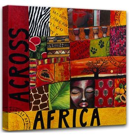 Fotoschilderij op canvas 100x100cm Afrika