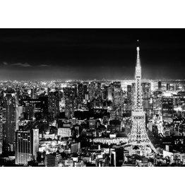 Fotoschilderij Glitter 114x80cm Parijs bij nacht
