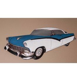 Wanddekoration blau Chevy