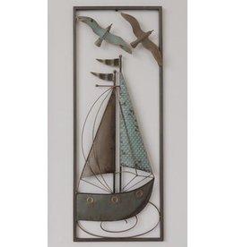 Wanddecoratie Zeilboot
