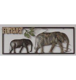 Wanddecoratie olifanten