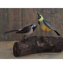 Metalen figuur paar vogels 23cm