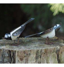 Metalen figuur paar vogels 8cm
