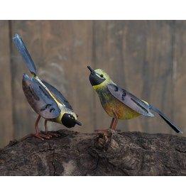 Metalen figuur paar vogels 15cm
