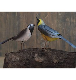 Eliassen Metalen figuur paar vogels 30x15cm